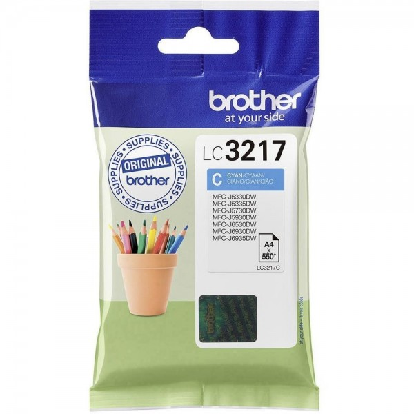 Cartouche d'encre Brother lc3217c