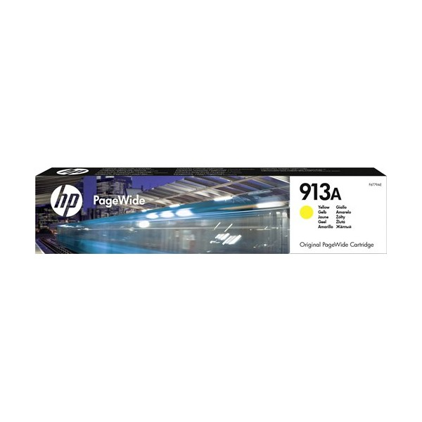 HP 913A - Cartouche Jaune PageWide - 37 ml - 3 000 pages