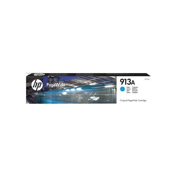 HP 913A - Cartouche Cyan PageWide - 37 ml - 3 000 pages