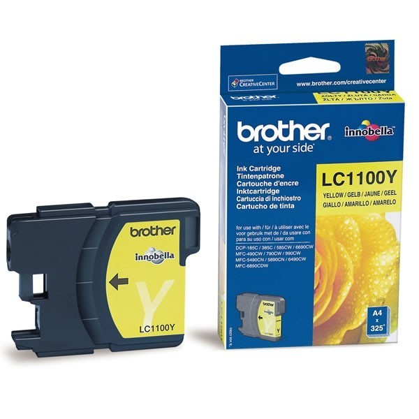 Cartouche d'encre brother lc1100y