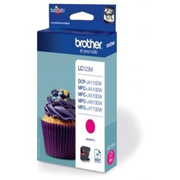 Cartouche d'encre brother lc123m