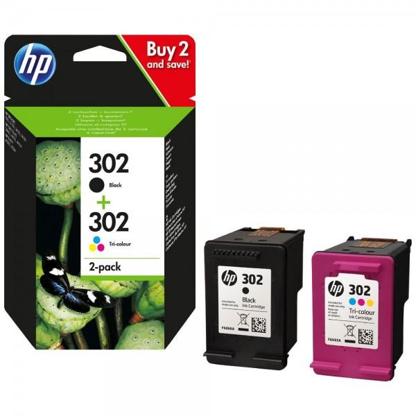 HP 302 noir et couleur - lot de 2 cartouches d'encre hp