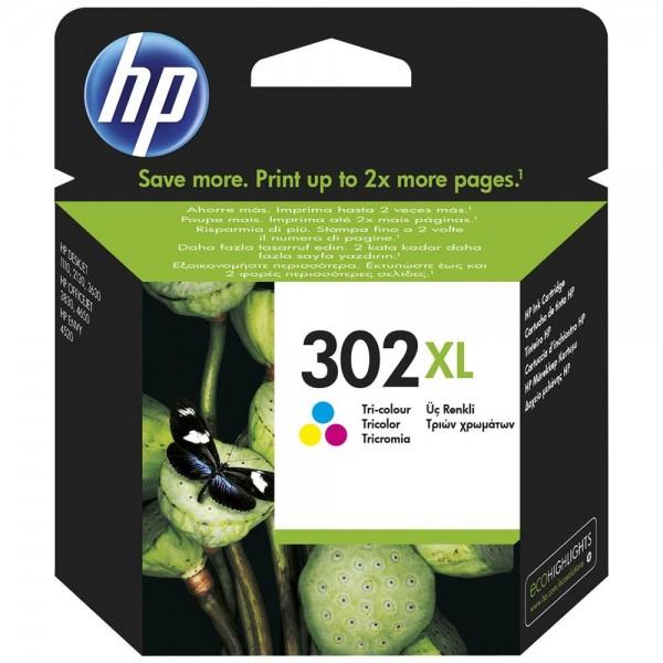 HP 302XL - cartouche de marque hp 302XL tricolors F6U67AE