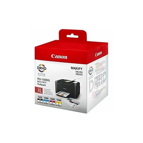 CANON PGI1500XL PACK - Pack 4 cartouches d'encre Canon PGI-1500XL 9185B004