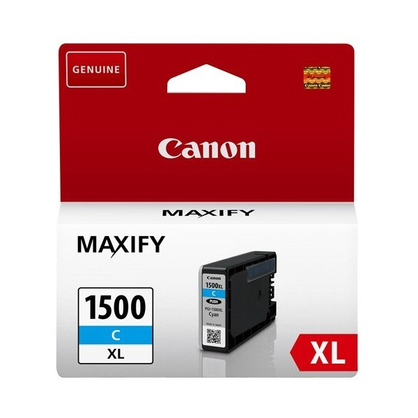 CANON PGI1500XL C - Cartouche d'encre Canon PGI-1500XL cyan 9193B001