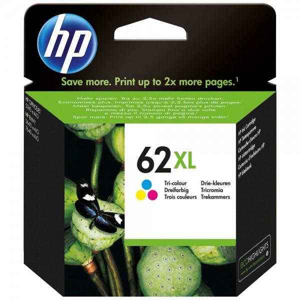 HP 62XL - cartouche d'encre HP N° 62XL couleur c2p07ae haute capacité