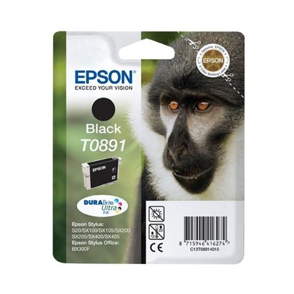 Epson T0891 - Cartouche d'encre Epson T0891 C13T08914010 noir (singe / T891)