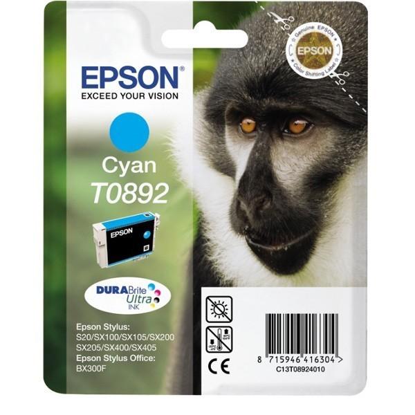 Epson T0892 - Cartouche d'encre Epson T0892 C13T08924010 cyan (singe / T892)