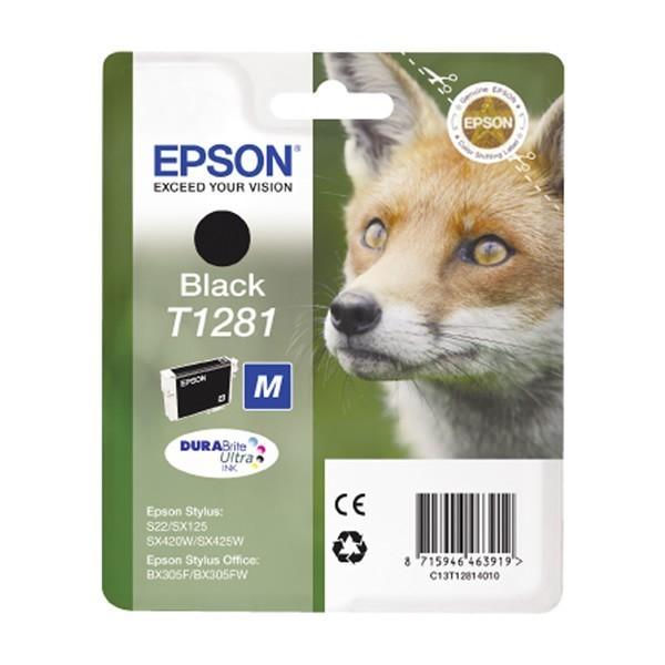 Epson T1281 - Cartouche d'encre Epson C13T128140 noir (renard)