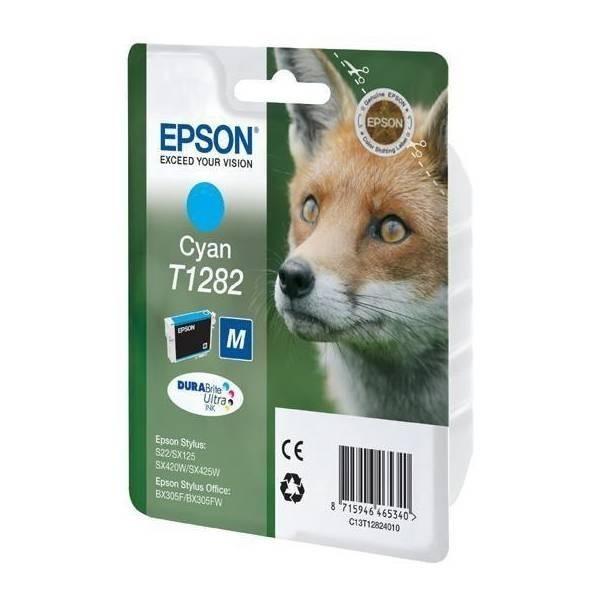 Epson T1282 - Cartouche d'encre Epson C13T128240 cyan (renard)