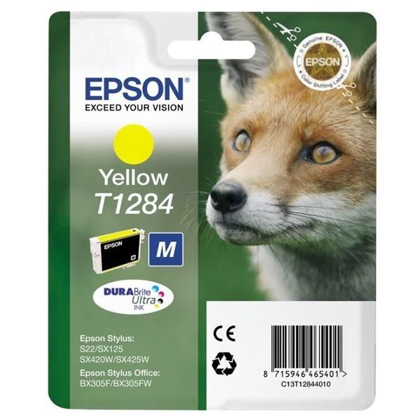Epson T1284 - Cartouche d'encre Epson C13T128440 jaune (renard)