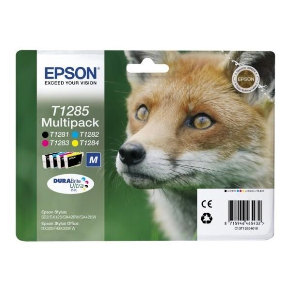 Epson T1285 - Pack de 4 cartouches Epson T1281 T1282 T1283 T1284 (renard)