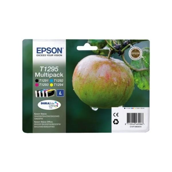 Epson T1295 - Pack de 4 cartouches Epson T1291 T1292 T1293 T1294 (pomme)