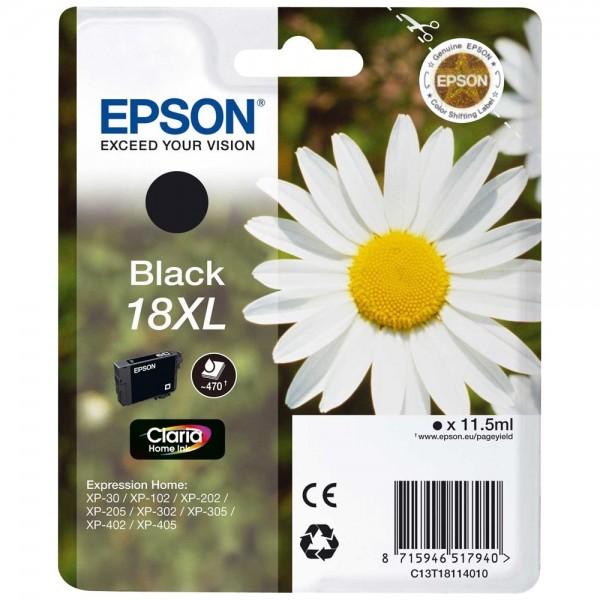 Epson T1811 - Cartouche d'encre Epson T1811 noir - Serie 18XL Paquerette - Encre Claria Home 11,5ml