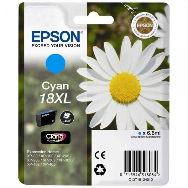 Epson T1812 - Cartouche d'encre Epson T1812 cyan - Serie 18XL Paquerette - Encre Claria Home 6,6ml