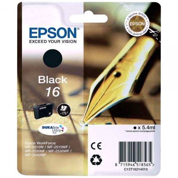 """EPSON T1621 - Cartouche d'encre Epson T1621 """"Stylo à plume noir"""""""
