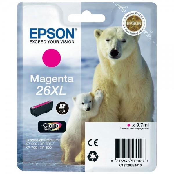 Epson T2633 - Cartouche d'encre Epson T2633 - Serie 26XL (ours polaire) - Magenta (700 pages)