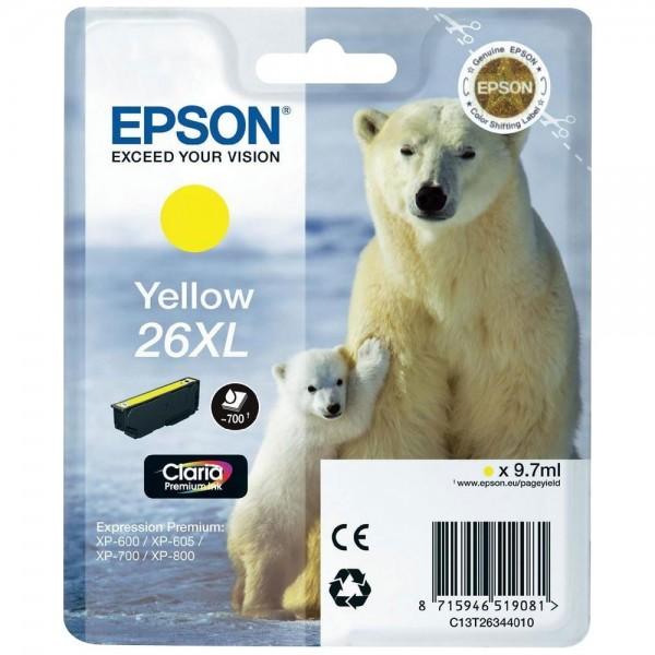 Epson T2634 - Cartouche d'encre Epson T2634 - Serie 26XL (ours polaire) - Jaune (700 pages)