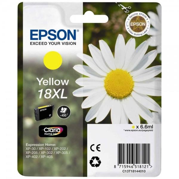 Epson T1814 - Cartouche d'encre Epson T1814 jaune - Série 18XL Pâquerette - Encre Claria Home 6,6ml