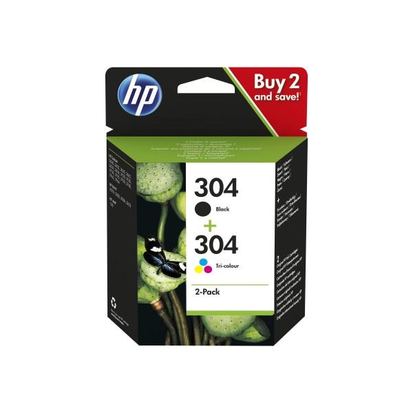 HP 304 - Pack 2 cart - Noir et couleur