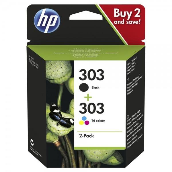 HP 303 noir et couleur - LOT de 2 cartouches HP 3YM92AE