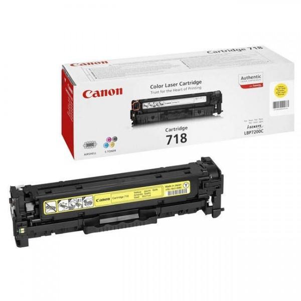 CANON 718 J - Toner d'impression Canon 718 Jaune 2659B002AA