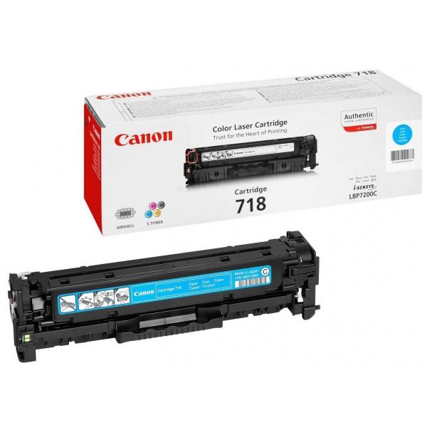 CANON 718 C - Toner d'impression Canon 718 Cyan 2661B002AA
