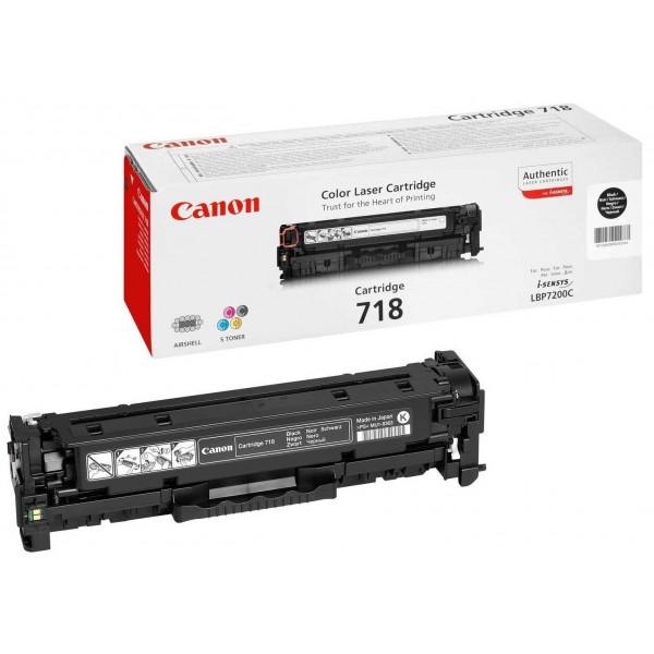 CANON 718 BK - Toner d'impression Canon 718 Noir 2662B002AA