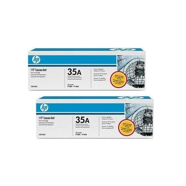 HP 35AD PACK 2 - Toner HP CB435AD noir