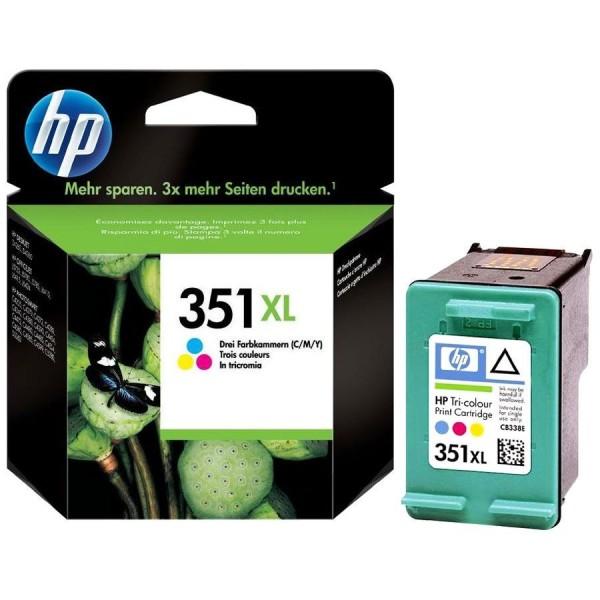 HP 351 XL - Cartouche d'encre HP n 351XL CB338EE Vivera couleur