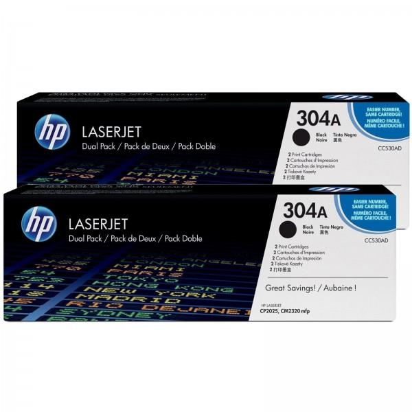 HP 304A Pack de 2 toners - Toner HP CC530A Colorsphere noir X2