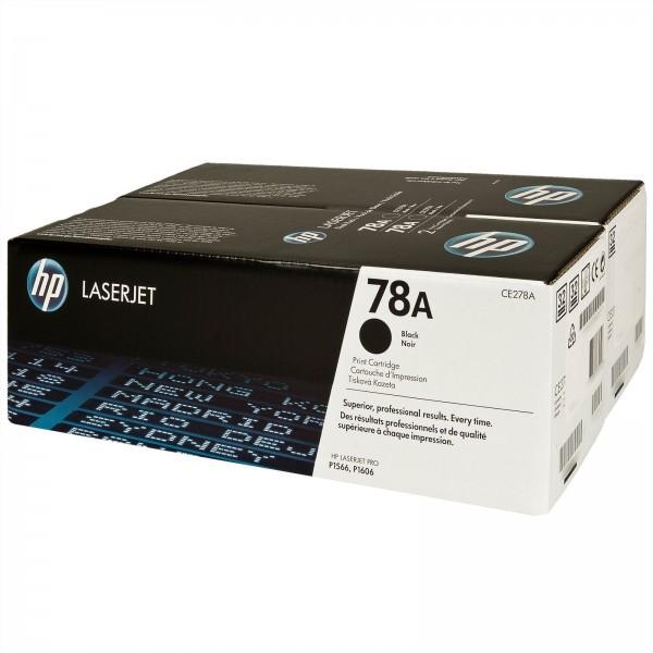 HP 78AD PACK 2 TONERS - Toner HP CE278AD X2 noir pour HP P1566 - P1607