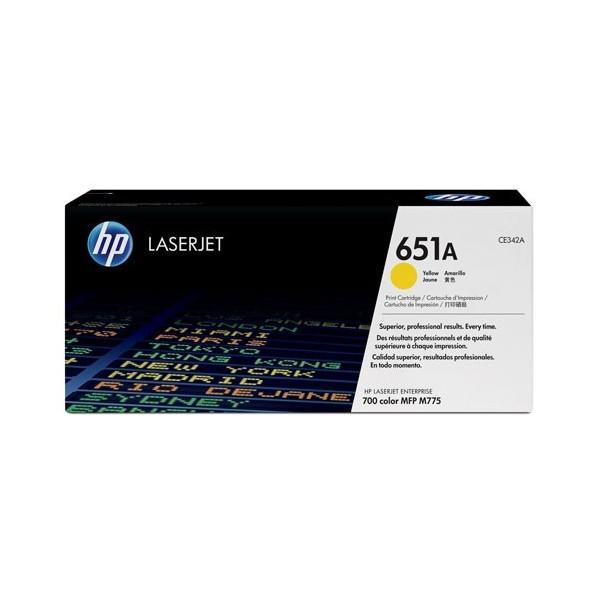 HP 651A - Toner HP CE34A pour HP laserjet 700 jaune
