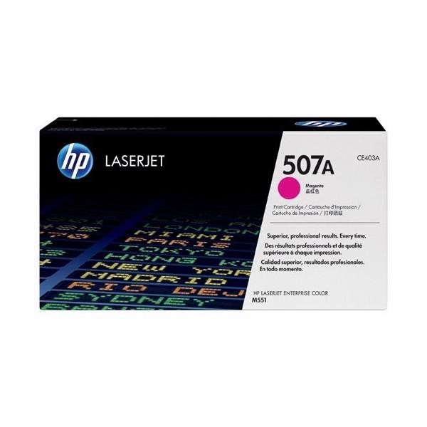 HP 507A - Toner HP CE403A pour HP LaserJet Enterprise 500 magenta