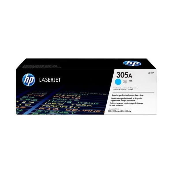 HP 305A - Toner HP CE411A pour HP LaserJet Pro cyan
