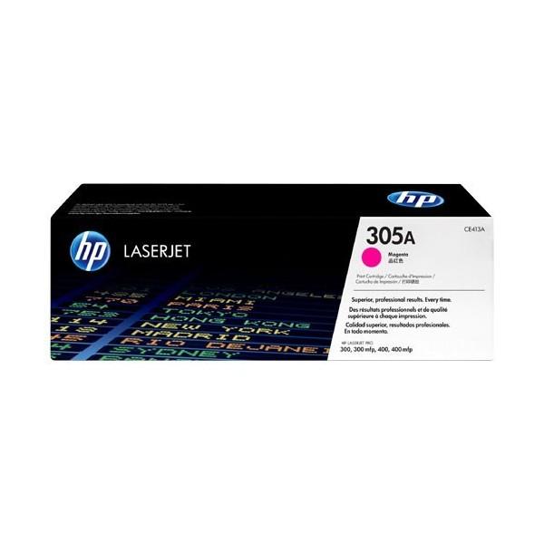 HP 305A - Toner HP CE413A pour HP LaserJet Pro magenta