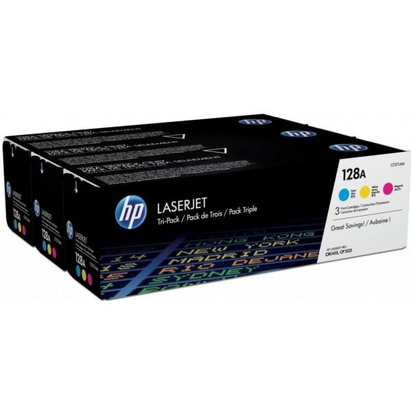 HP128A-Tri-Pack Color 1xcyan + 1x jaune + 1x magenta