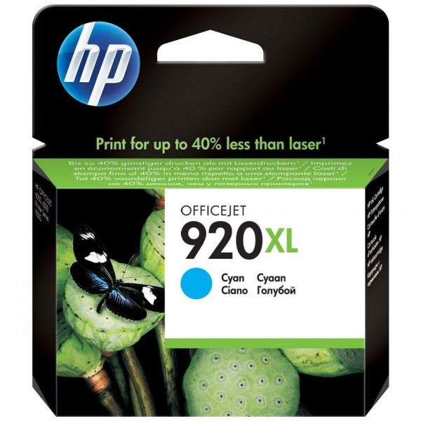 HP 920XL - Cartouche d'encre HP n 920XL CD972AE cyan