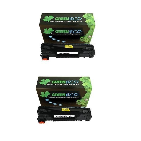 CE285AD - 85AD - Lot de 2 toners generique equivalent au modele HP CE285A noir