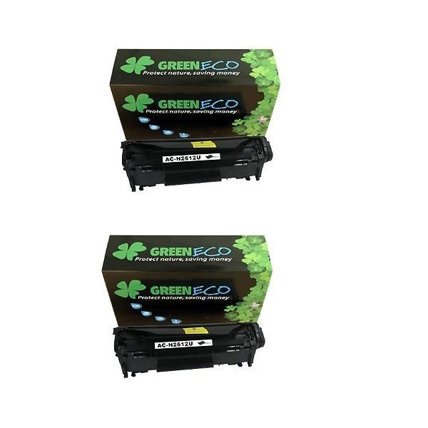 Q2612AD - 12AD - Lot de 2 Toner generique equivalent au modele HP Q2612AD noir