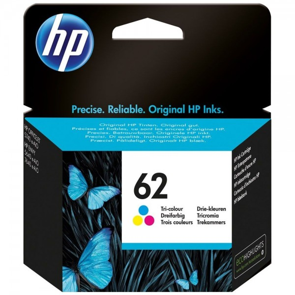 HP 62 - cartouche d'encre HP N° 62 couleur c2p06ae capacité standard