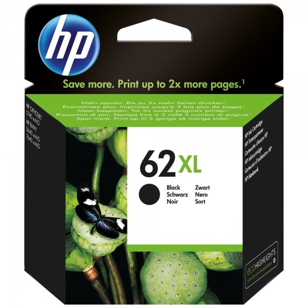 HP 62XL - cartouche d'encre HP N° 62XL noir c2p05ae haute capacité