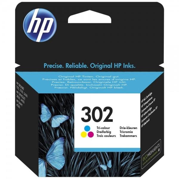 HP 302 - cartouche de marque hp 302 tricolors F6U65AE