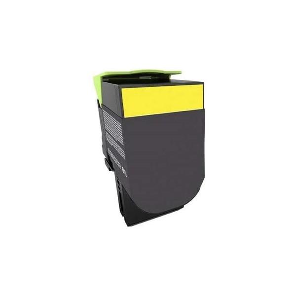 Cartouche de toner compatible Jaune pour LEXMARK CX 410/510
