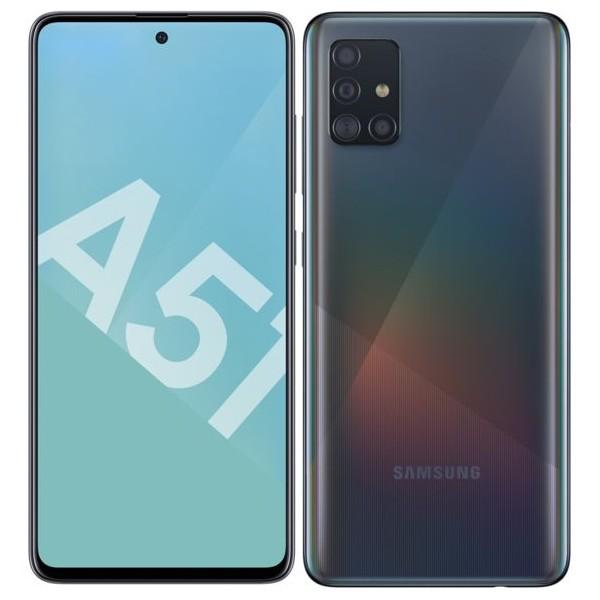SAMSUNG Galaxy A51 (A515F) 4G DS 6,5 fHD Octa 4/128Go 4Cam • Noir