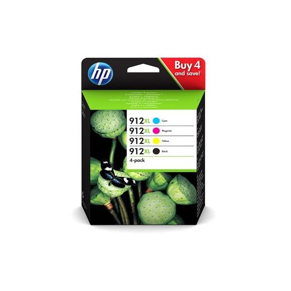 Pack HP 912XL - Cartouches d'encre 4 couleurs HP 912XL