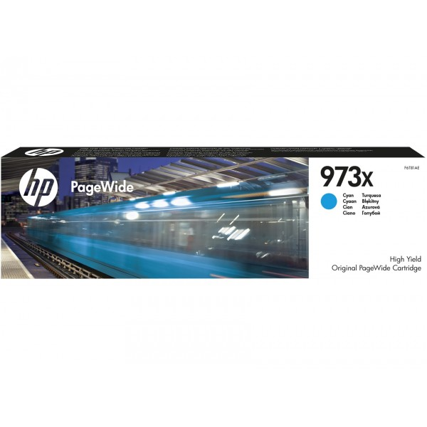 HP 973X Cyan - Cartouche d'encre Cyan HP 973X
